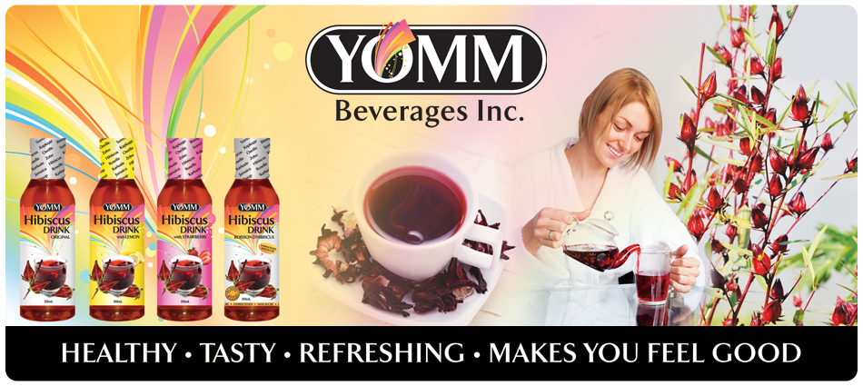 Healthy Drinks - YOMM Beverages Inc. - Hibiscus Tea - Winnipeg Manitoba
